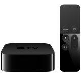 the new Apple TV 64GB (4th generation), Siri Remote, Dolby Digital 7.1, Video Output 1080p, Dual-core A8 chip, HDMI 1.42, 10/100 BASE-T Ethernet, IR receiver, USB-C (service only), Third-Party Controllers