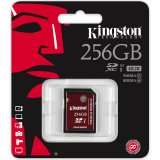 Kingston 256GB SDXC UHS-I Speed Class 3 90MB/s read 80MB/s write Flash Card, EAN: 740617242133