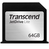 TRANSCEND Flash Card, JetDrive Lite, 64GB, for MacBook Air 13', Late 2010,  Mid 2011,  Mid 2012, Mid 2013, Early 2014, MLC flash, R/W: 95/60 MB/s