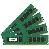 Crucial DRAM 64GB Kit (16GBx4) DDR4 2400 MT/s (PC4-19200) CL17 DR x8 Unbuffered DIMM 288pin, EAN: 649528773531