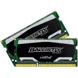 Crucial DRAM 8GB Kit (4GBx2) DDR3 1600 MT/s (PC3-12800) CL9 @1.35V Ballistix Sport SODIMM 204pin Single Ranked, EAN: 649528769060