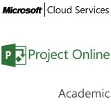 MICROSOFT Project Online, Academic, VL Subs., Cloud, Single Language, 1 user, 1 year