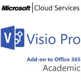 MICROSOFT Visio Professional, Academic, VL Subs., Cloud, Single Language, 1 user, 1 year