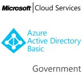 MICROSOFT Azure Active Directory Basic, Government, VL Subs., Cloud, 1 user, 1 year