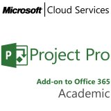 MICROSOFT Project Professional, Academic, VL Subs., Cloud, Single Language, 1 user, 1 year