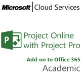 MICROSOFT Project Online with Project Pro, Academic, VL Subs., Cloud, Single Language, Multiple, 1 year