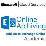 MICROSOFT Exchange Online Archiving, Academic, VL Subs., Cloud, Single Language, 1 user, 1 year