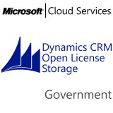 MICROSOFT Dynamics CRM Online Storage, Government, VL Subs., Cloud, 1 user, 1 year