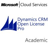 MICROSOFT Dynamics CRM Online Professional, Academic, VL Subs., Cloud, Single Language, 1 user, 1 year