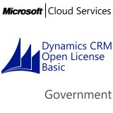 MICROSOFT Dynamics CRM Online Basic, Government, VL Subs., Cloud, 1 user, 1 year