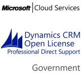 MICROSOFT Dynamics CRM Online Professional Direct Support, Government, VL Subs., Cloud, 1 user, 1 year