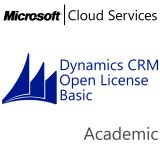 MICROSOFT Dynamics CRM Online Basic, Academic, VL Subs., Cloud, Single Language, 1 user, 1 year