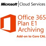 MICROSOFT Office 365 Plan E1 Archiving, Business, VL Subs., Android, Cloud, Mac OS, Windows, iOS, 1 user, 1 month