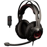 Kingston HyperX Gaming Headset, Cloud Revolver, Black, 50mm drivers, 3.5mm jack, solid steel frame, Audio control box, headset (1m) + audio control box (2m), EAN: 740617250435