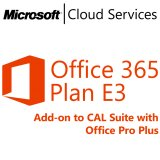 MICROSOFT Office 365 Plan E3, Business, VL Subs., Cloud, Single Language, 1 user, 1 month