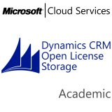 MICROSOFT Dynamics CRM Online Storage, Academic, VL Subs., Cloud, All Languages, 1 user, 1 month
