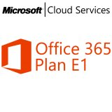 MICROSOFT Office 365 Plan E1, VL Subs., Cloud, Single Language, 1 user, 1 month