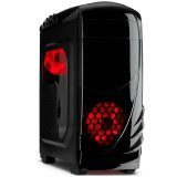 Chassis INTER-TECH K-2 GTS Black Midi Tower, ATX, 1xUSB2.0, 1xUSB3.0, Card Reader, HD-audio, PSU optional