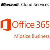 MICROSOFT Office 365 Midsize, Business, VL Subs., Cloud, Single Language, 1 user, 1 year
