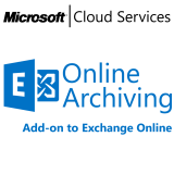 MICROSOFT Exchange Online Archiving, VL Subs., Cloud, Single Language, 1 user, 1 year