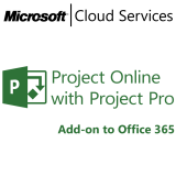 MICROSOFT Project Online with Project Pro, VL Subs., Cloud, Single Language, 1 user, 1 year