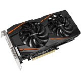 GIGABYTE Video Card AMD Radeon RX 480 GAMING GDDR5 4GB/256bit, 1290MHz/7000MHz, PCI-E 3.0, 3xDP, HDMI, DVI-D, WINDFORCE 2X Cooler RGB(Double Slot), Backplate, Retail