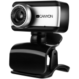 CANYON Enhanced 0.3 Megapixels resolutions webcam with USB 2.0 connector, 360 rotary view scape, sensitive microphone, multifunctional pedestal and compatible with Windows OS and MAC OS