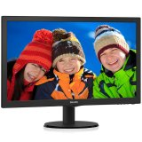 PHILIPS Monitor LED V-Line 243V5QHABA (23.6', 16:9, 1920x1080, MVA/WLED, 250 cd/m², 10M:1, 8 ms, 178/178°, VGA, DVI-D, HDMI, audio-in, Headphone out, Speakers 2x 2W, Tilt: -5 to +20°) Black, 2y