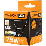 CANYON MRGU10/8W230VW60 LED lamp, MR shape, GU10, 7.5W, 220-240V, 60°, 540 lm, 2700K, Ra>80, 50000 h