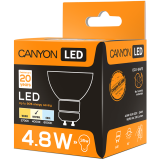 CANYON MRGU10/5W230VN60 LED lamp, MR shape, GU10, 4.8W, 220-240V, 60°, 330 lm, 4000K, Ra>80, 50000 h