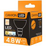 CANYON MRGU53/5W230VW38 LED lamp, MR shape, GU5.3, 4.8W, 220-240V, 38°, 300 lm, 2700K, Ra>80, 50000 h