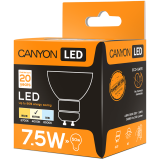 CANYON MRGU10/8W230VN38 LED lamp, MR shape, GU10, 7.5W, 220-240V, 38°, 594 lm, 4000K, Ra>80, 50000 h