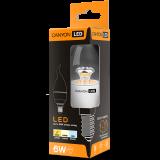 CANYON BXE14CL6W230VW LED lamp, BXS38 shape, clear, E14, 6W, 220-240V, 150°, 470 lm, 2700K, Ra>80, 50000 h