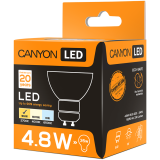 CANYON MRGU10/5W230VW38 LED lamp, MR shape, GU10, 4.8W, 220-240V, 38°, 300 lm, 2700K, Ra>80, 50000 h