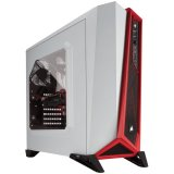 Corsair Carbide Series SPEC-ALPHA Mid-Tower Gaming Case — White/Red