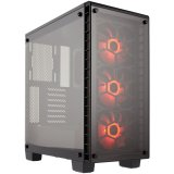 Corsair Crystal Series 460X RGB Compact ATX Mid-Tower Case, SP120 RGB LED fans