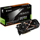 GIGABYTE Video Card GeForce GTX 1080 AORUS XTREME EDITION GDDR5X 8GB/256bit, 1759MHz/10206MHz, PCI-E 3.0 x16, HDMI, DVI-D, 3xDP, WINDFORCE 3X Cooler RGB(Double Slot), Backplate, Retail