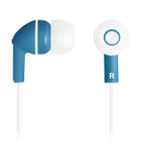 Stereo earphones with micophone, Dark blue