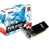 MSI Video Card Radeon R5 230 GDDR3 1GB/64bit, 625MHz/1066MHz, PCI-E 2.1 x16, HDMI, DVI, VGA, Heatsink, Low-profile, Retail