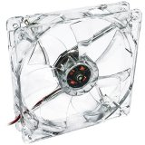 System controlled fan 12cm LED red Akyga AW-12B-BR 3-pin