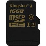 KINGSTON 16GB microSDHC Class U3 UHS-I 90R/45W Single Pack w/o Adapter