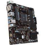 MSI Main Board Desktop B350 (SAM4, 4xDDR4, PCI-Ex16, 2xPCI-Ex1, USB3.1, USB2.0, 4xSATA III, M.2, Raid, VGA, DVI-D, HDMI, GLAN) mATX Retail