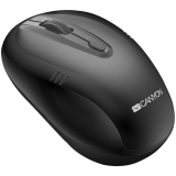 CANYON 2.4Ghz wireless mouse, optical tracking - red LED, 4 buttons, DPI 1000/1200/1600, Black