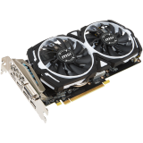 MSI Video Card AMD Radeon RX 570 OC GDDR5 4GB/256bit, 1268/7000MHz, PCI-E 3.0 x16, 3xDP, HDMI, DVI-D, ARMOR 2X Cooler(Double Slot), Retail