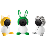Arlo Baby accessory characters are a fun to dress up your camera and add a bit of playfulness to your nursery. They have a convenient slip-on, slip-off design, allowing you to easily disguise your cameras while still providing access to connectors an