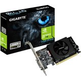 GIGABYTE Video Card GeForce GT 710 DDR5 2GB/64bit, 954MHz/5010MHz, PCI-E 2.0 x8, HDMI, DVI-I, Cooler, Low-profile, Retail