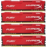 KINGSTON 64GB 2400MHz DDR4 CL15 DIMM (Kit of 4) HyperX FURY Red