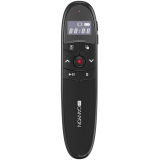 CANYON 2.4Ghz laser wireless presenter, red laser indicator, LCD display timer, Black