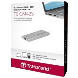 TRANSCEND M.2 2242, USB3.1 SSD Enclosure Kit, Silver