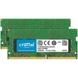 Crucial DRAM 32GB Kit (16GBx2) DDR4 2666 MT/s (PC4-21300) CL19 DR x8 Unbuffered SODIMM 260pin, EAN: 649528780157
